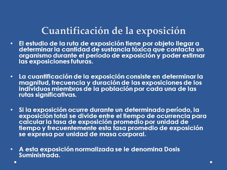 Cuantificación de la exposición