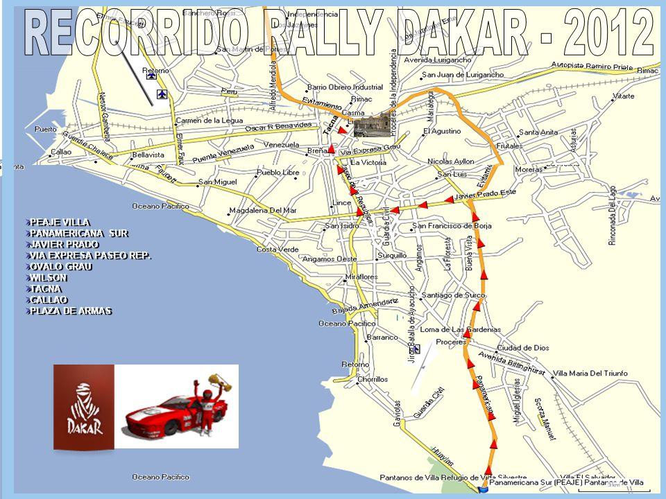 RECORRIDO RALLY DAKAR - 2012