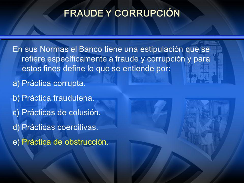 MEDIDAS DEL BANCO EN CONTRA DEL FRAUDE Y LA CORRUPCIÓN