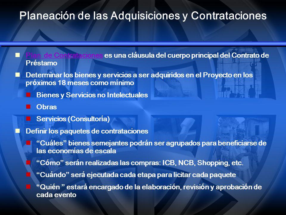 Planeación de las Adquisiciones y Contrataciones