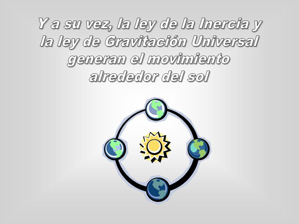 Y a su vez, la ley de la Inercia y la ley de Gravitación Universal