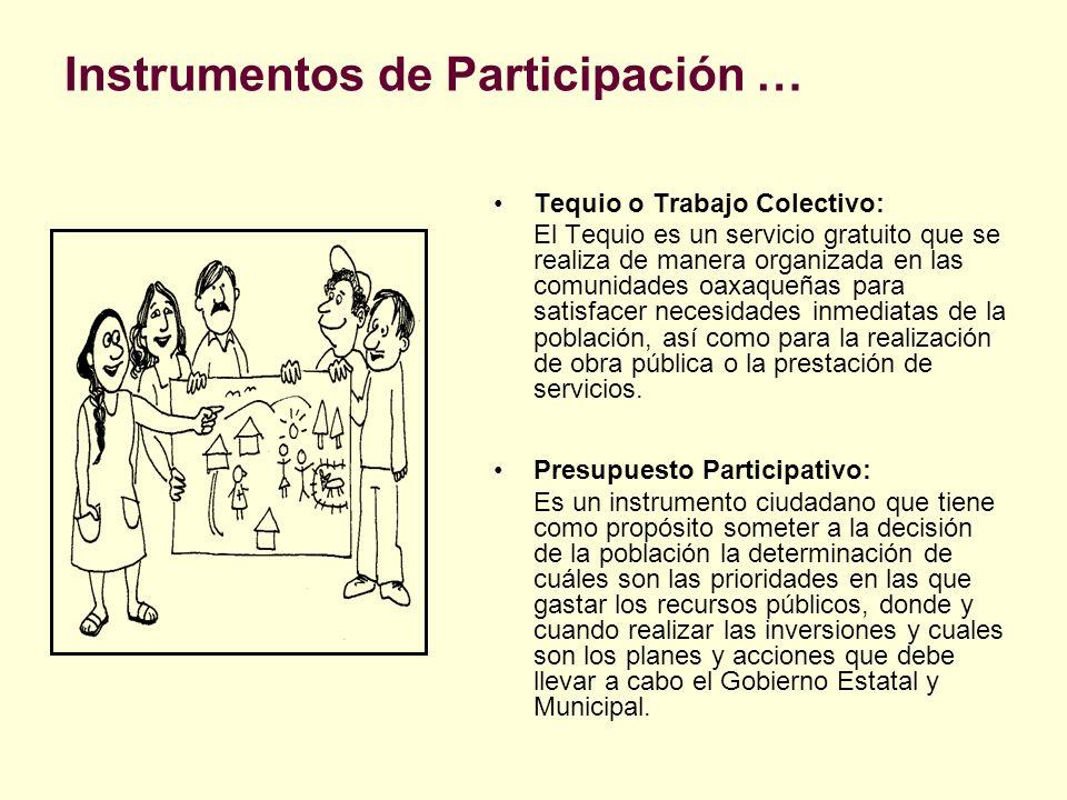 Instrumentos de Participación …