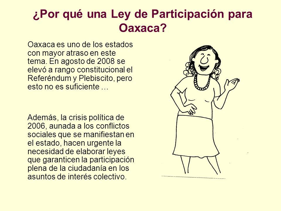 ¿Por qué una Ley de Participación para Oaxaca