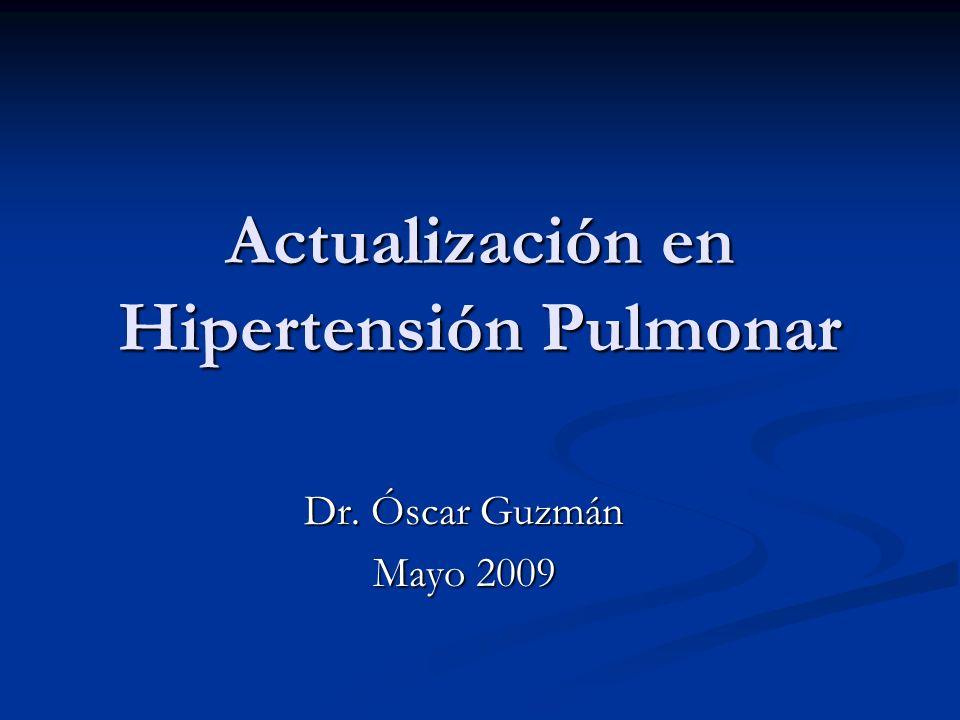 Actualización en Hipertensión Pulmonar