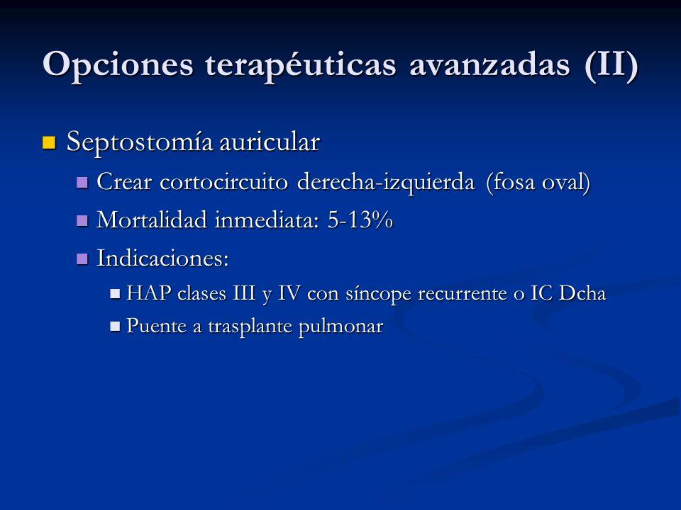 Opciones terapéuticas avanzadas (II)