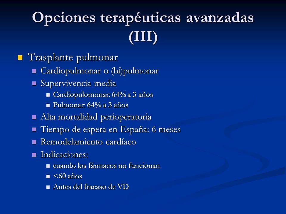 Opciones terapéuticas avanzadas (III)