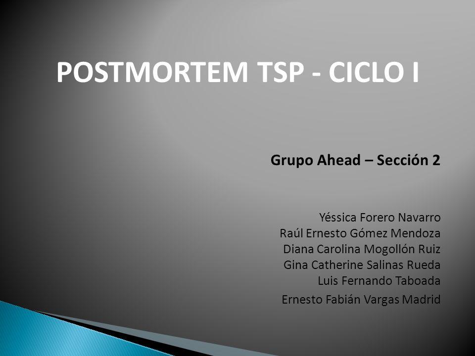 POSTMORTEM TSP - CICLO I