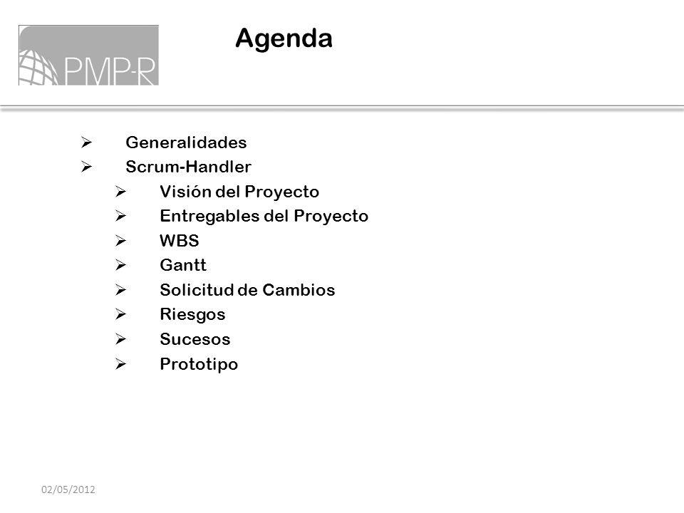 Agenda Generalidades Scrum-Handler Visión del Proyecto