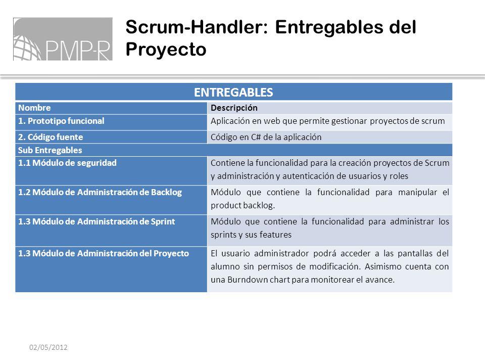 Scrum-Handler: Entregables del Proyecto