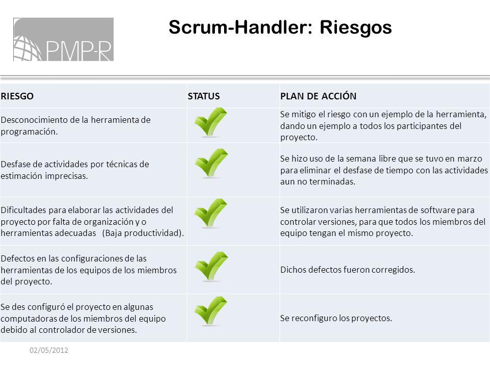 Scrum-Handler: Riesgos