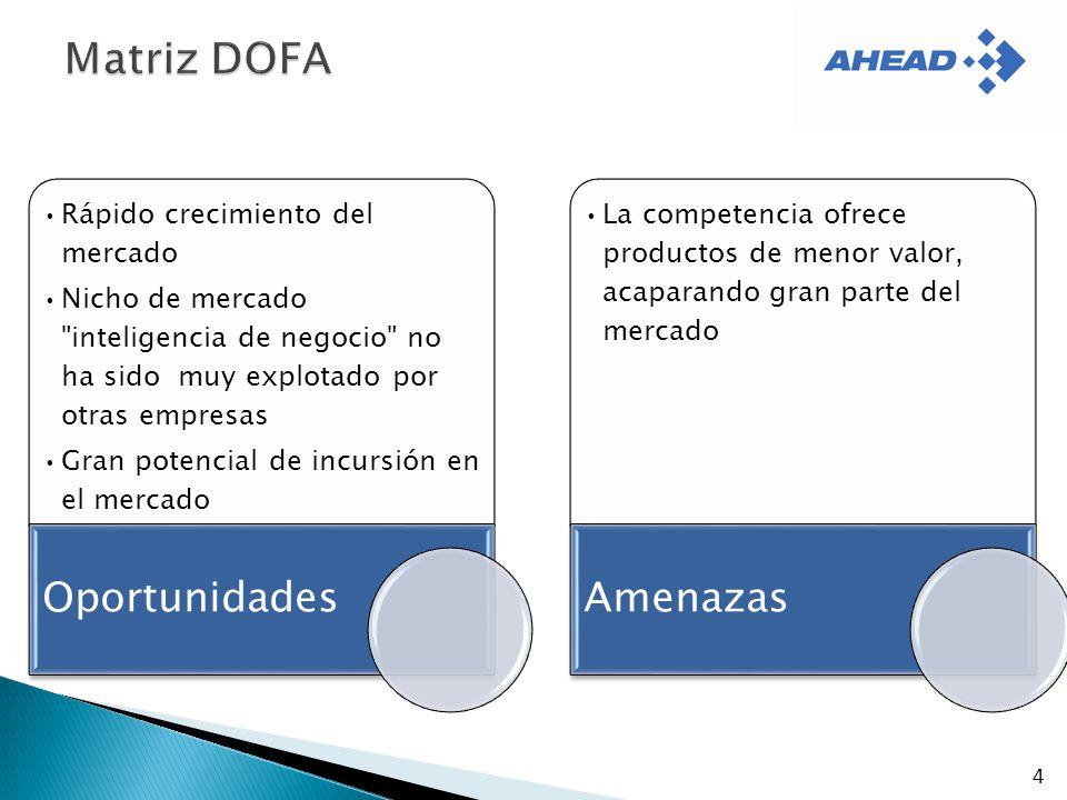 Matriz DOFA Oportunidades Amenazas Rápido crecimiento del mercado