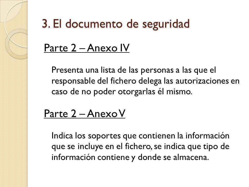 3. El documento de seguridad