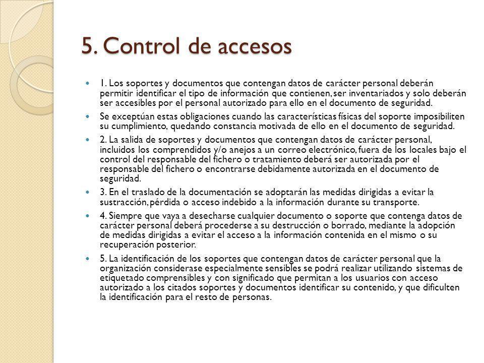 5. Control de accesos