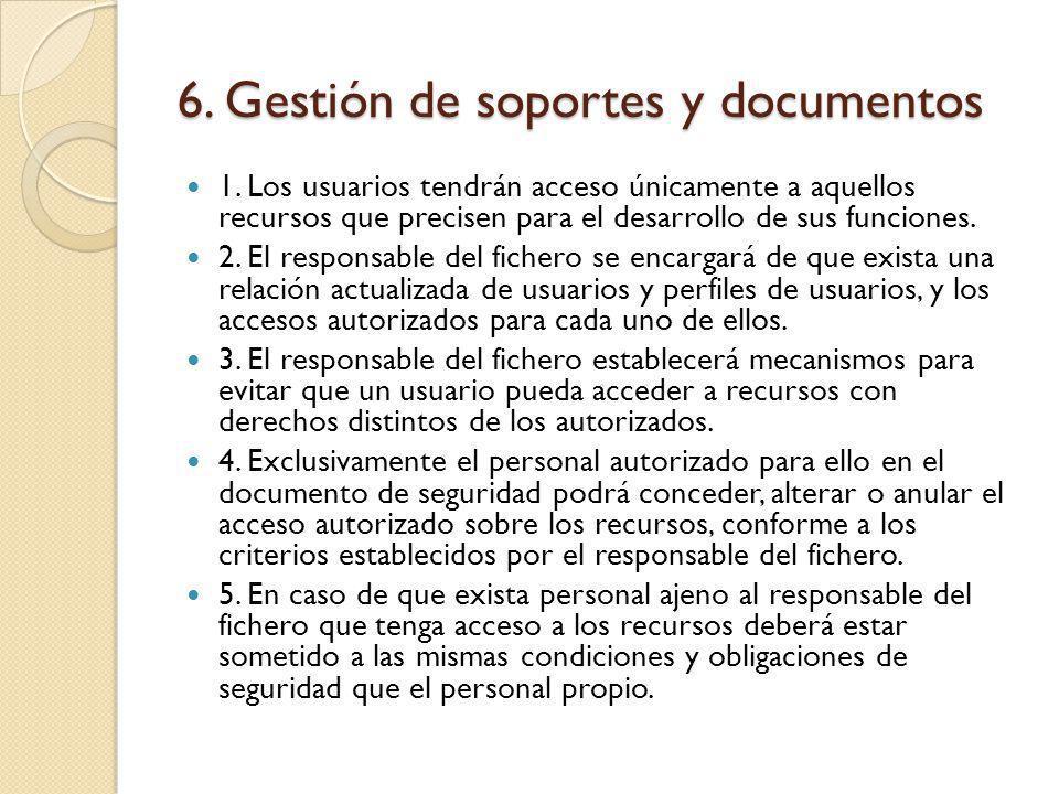 6. Gestión de soportes y documentos