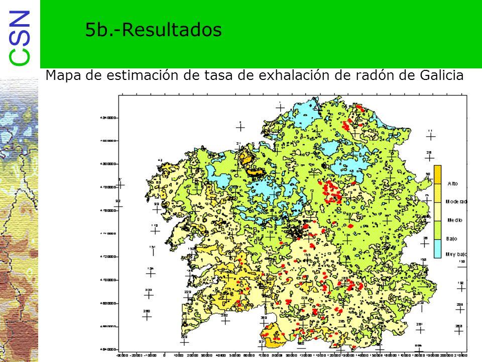 5b.-Resultados Mapa de estimación de tasa de exhalación de radón de Galicia