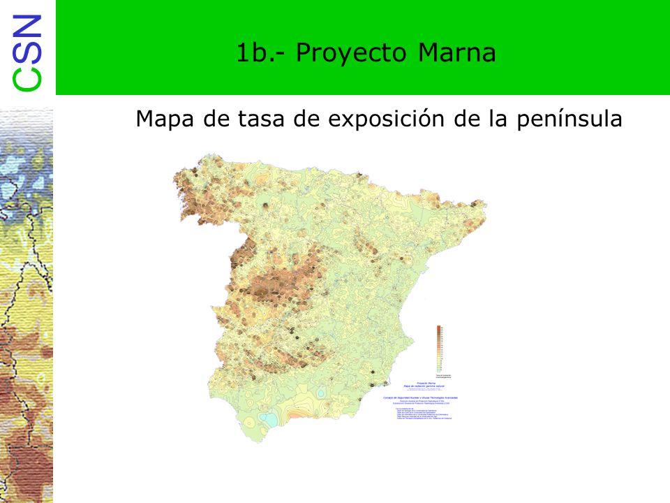 Mapa de tasa de exposición de la península