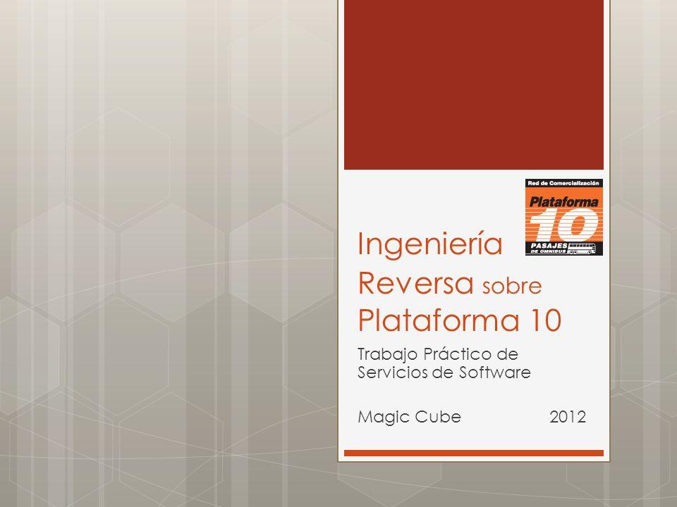 Ingeniería Reversa sobre Plataforma 10