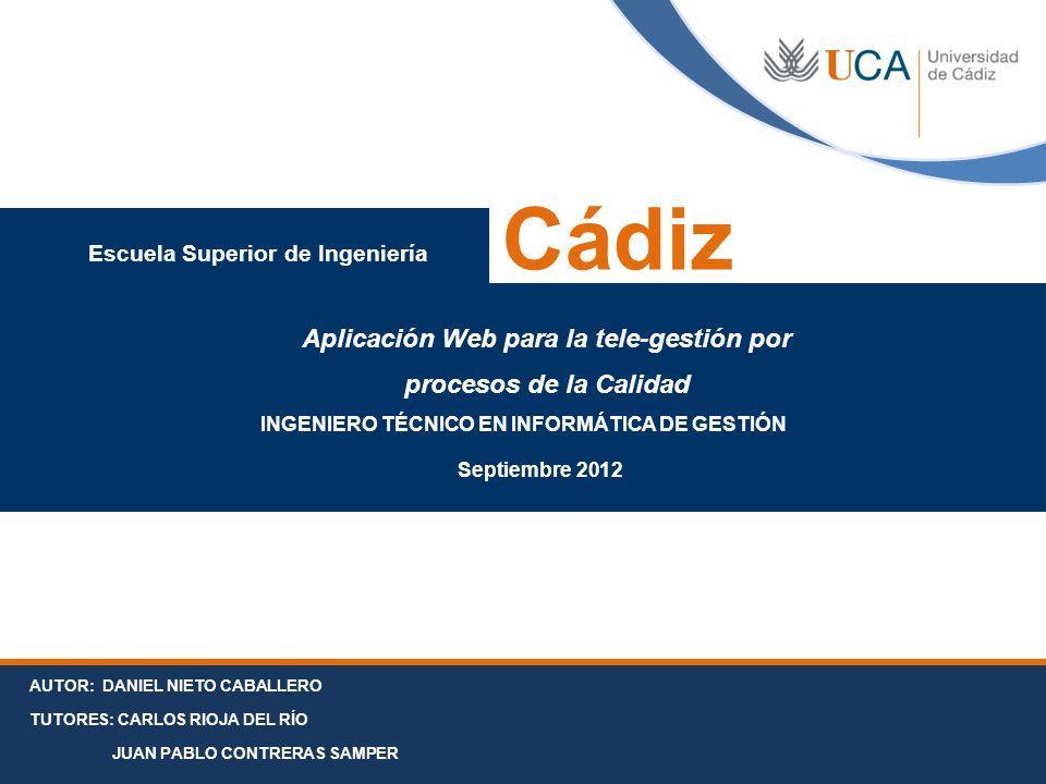Cádiz Aplicación Web para la tele-gestión por procesos de la Calidad