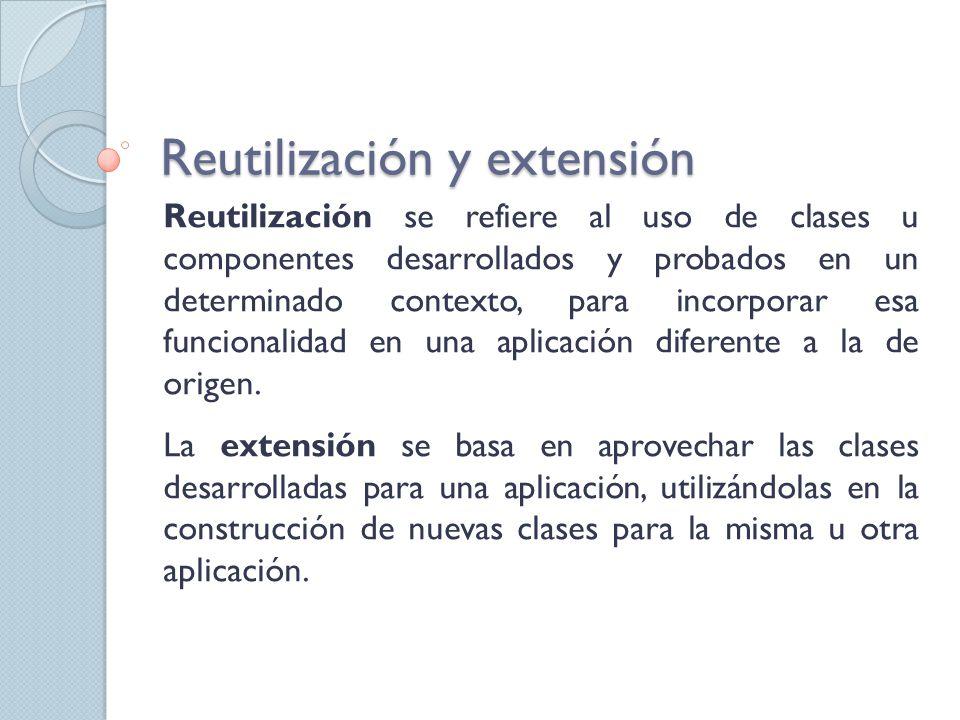 Reutilización y extensión