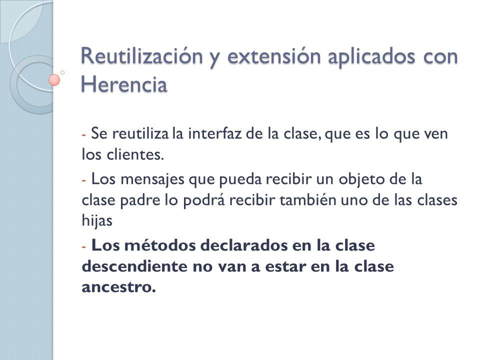 Reutilización y extensión aplicados con Herencia