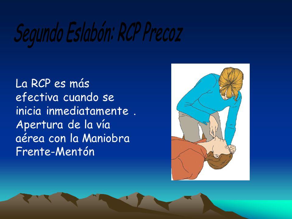 Segundo Eslabón: RCP Precoz