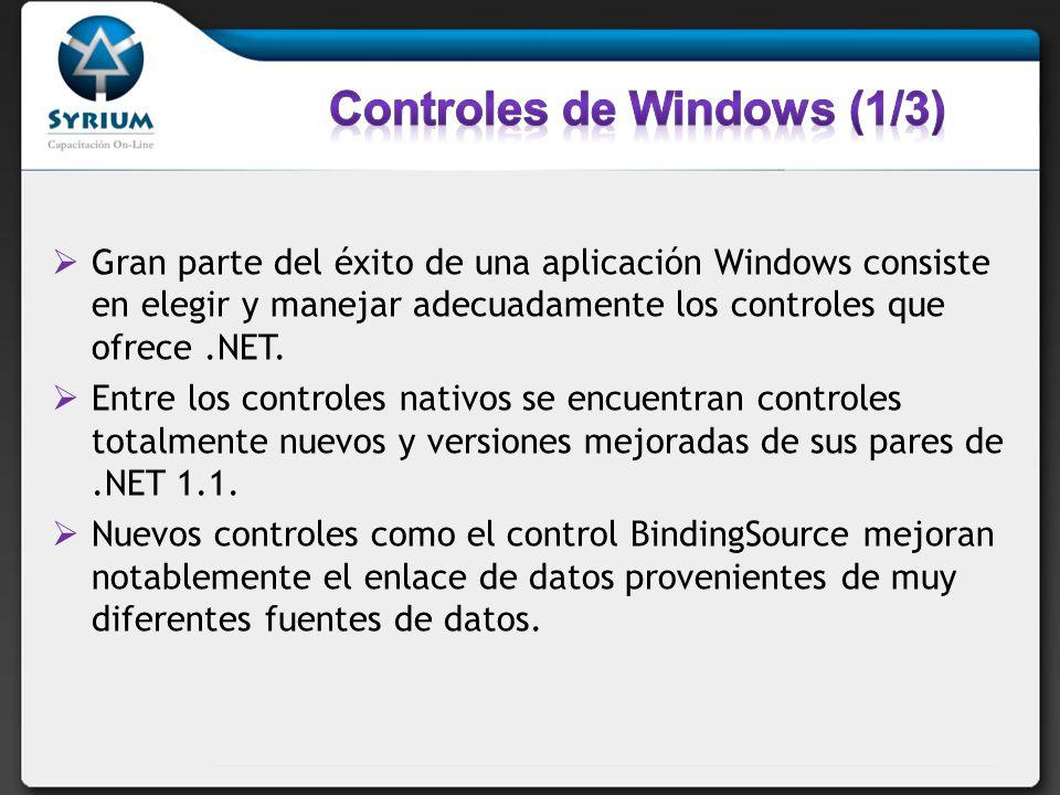 Controles de Windows (1/3)