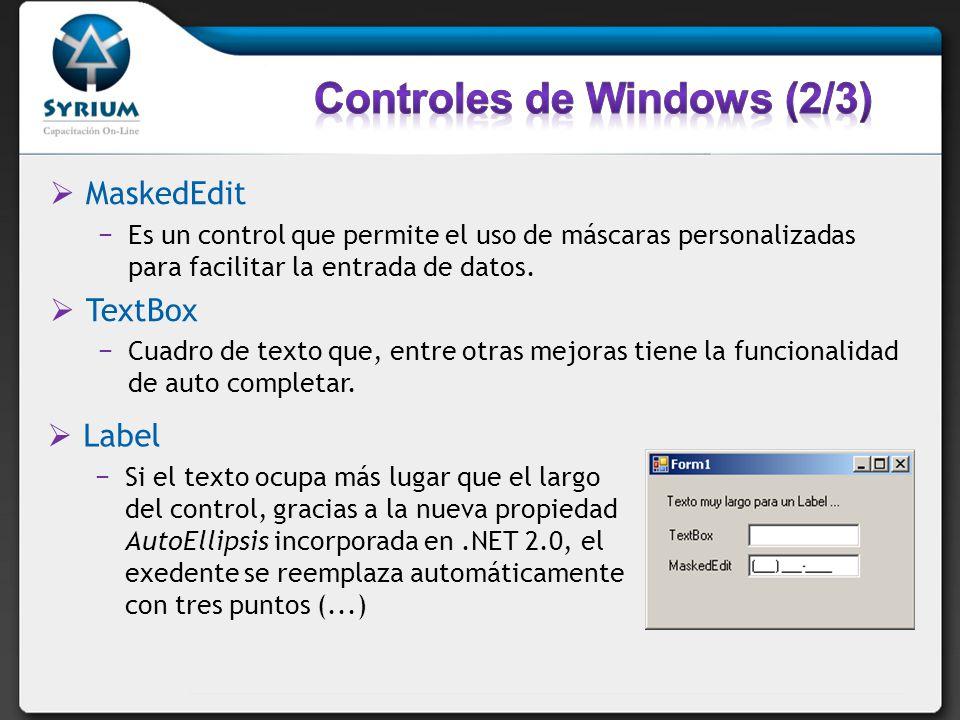 Controles de Windows (2/3)