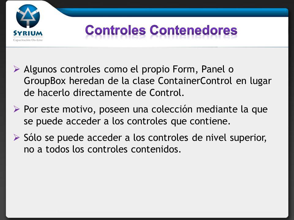 Controles Contenedores