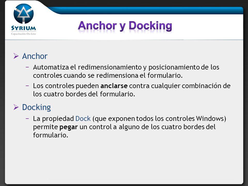 Anchor y Docking Anchor Docking