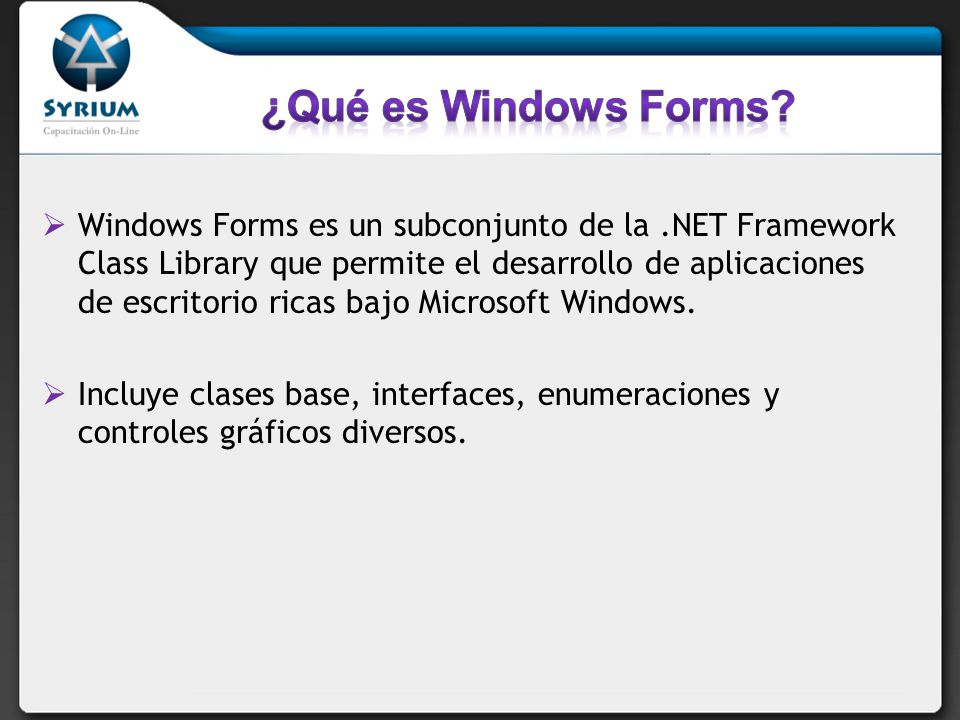 ¿Qué es Windows Forms