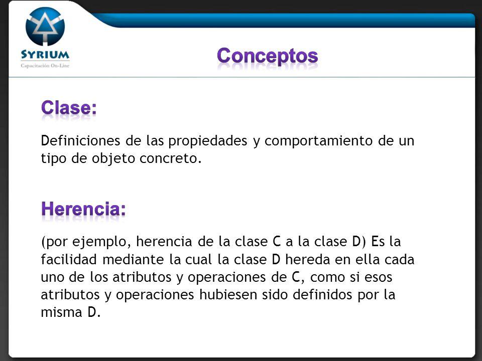 Conceptos Clase: Herencia: