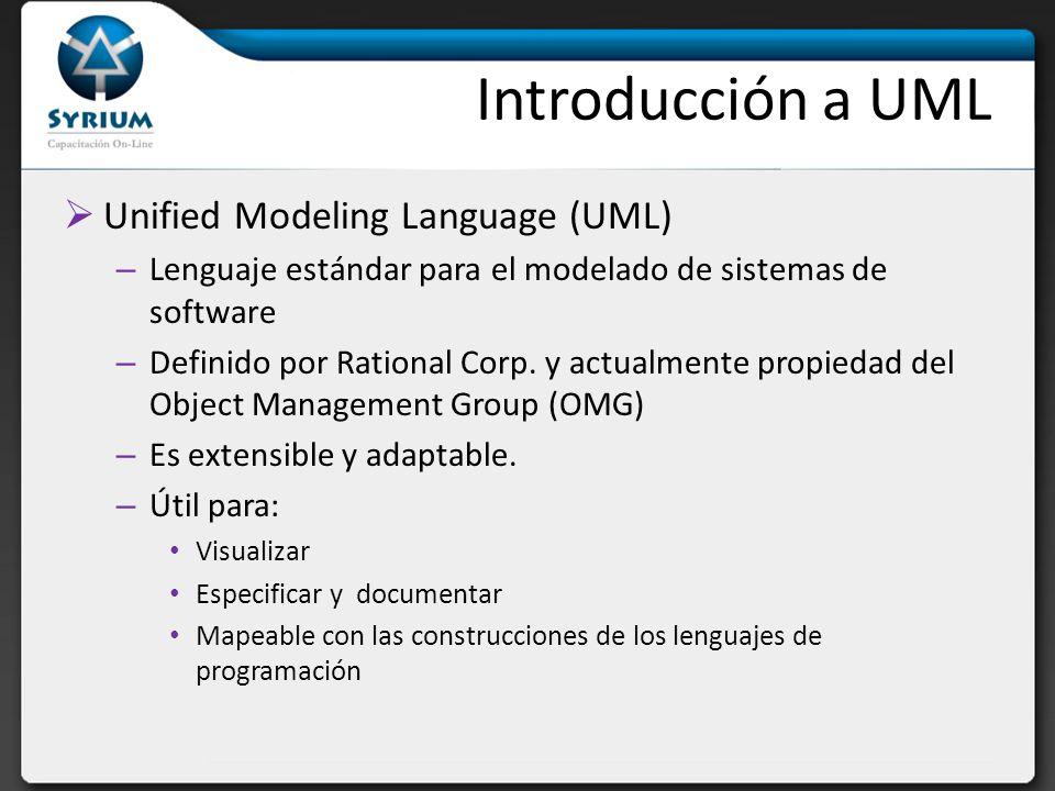 Introducción a UML Unified Modeling Language (UML)