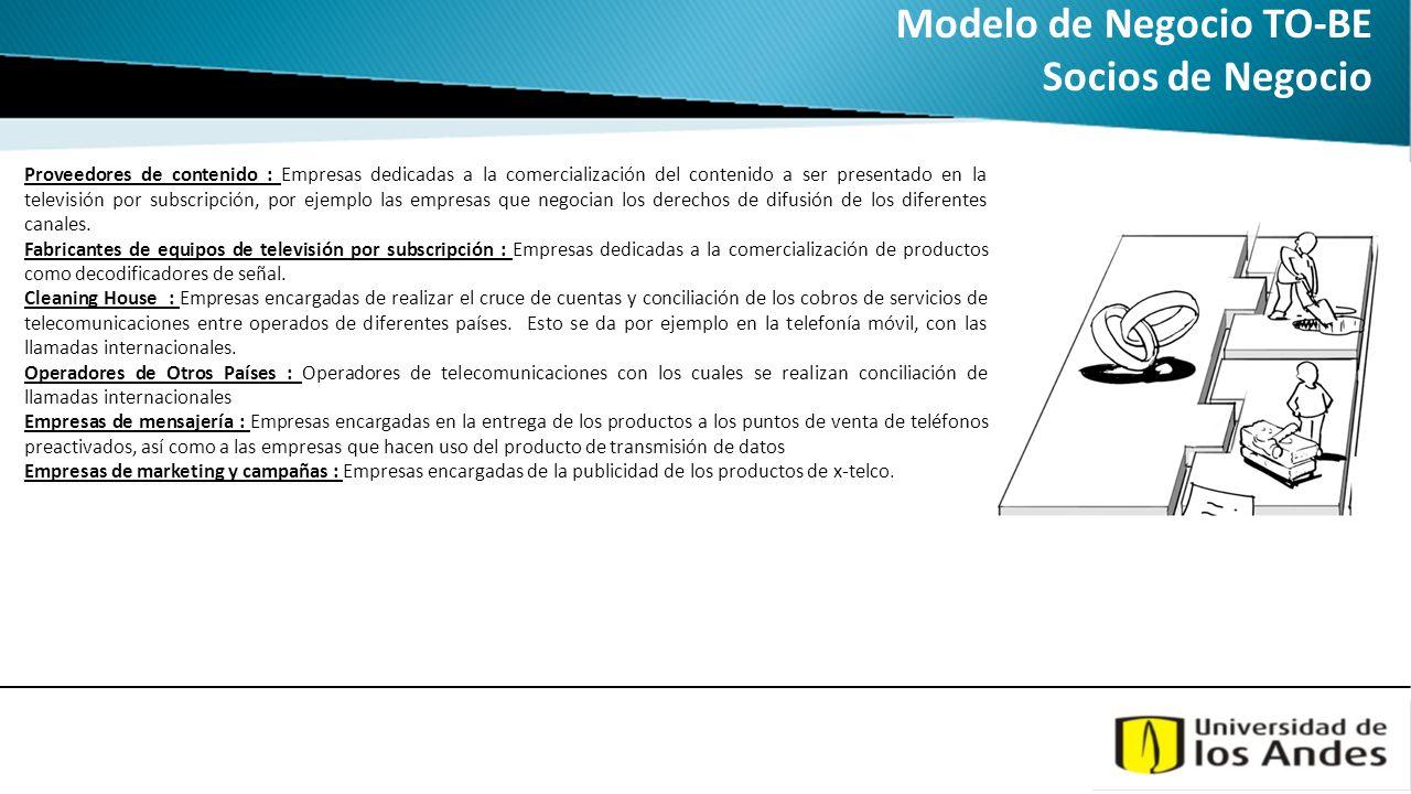 Modelo de Negocio TO-BE Socios de Negocio