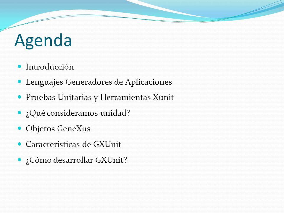 Agenda Introducción Lenguajes Generadores de Aplicaciones