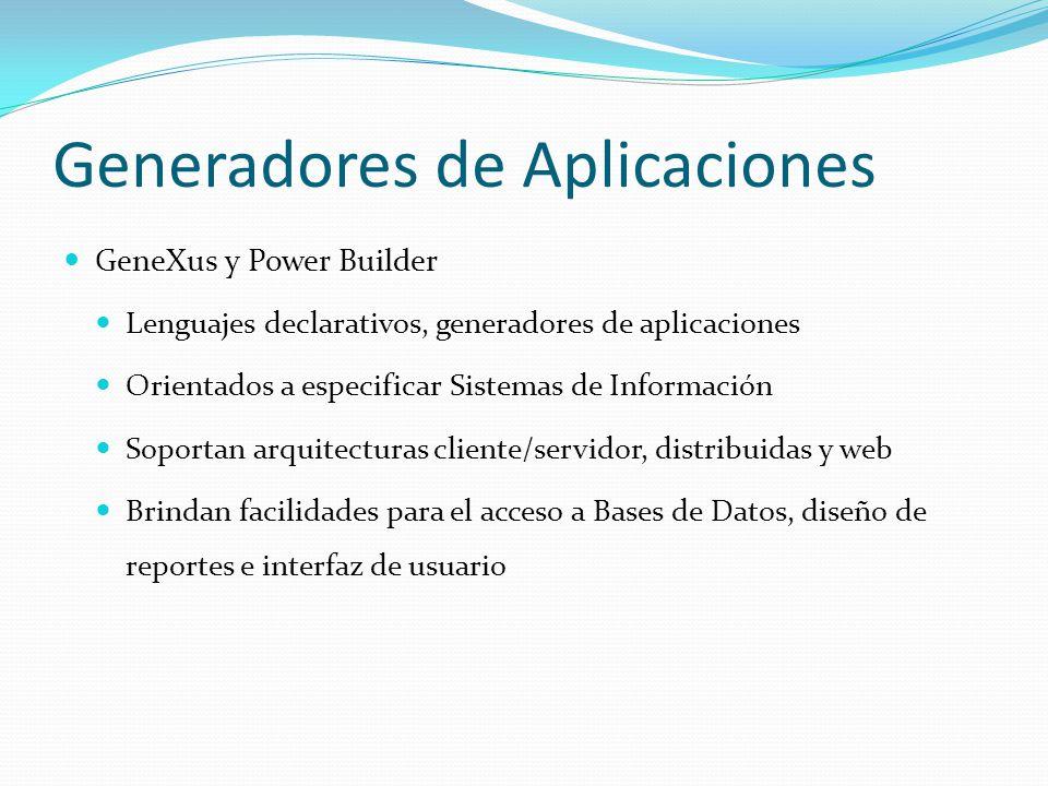 Generadores de Aplicaciones