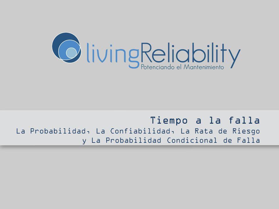 Tiempo a la falla La Probabilidad, La Confiabilidad, La Rata de Riesgo y La Probabilidad Condicional de Falla.