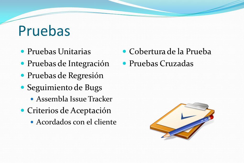 Pruebas Pruebas Unitarias Cobertura de la Prueba