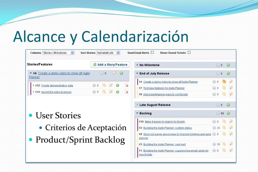 Alcance y Calendarización