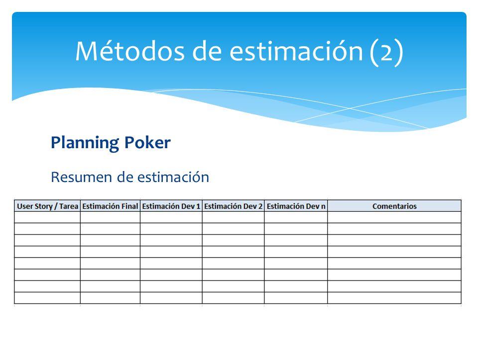 Métodos de estimación (2)