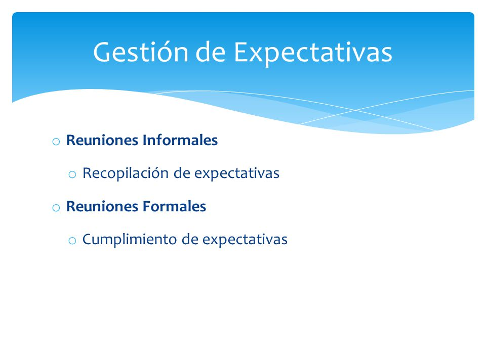 Gestión de Expectativas