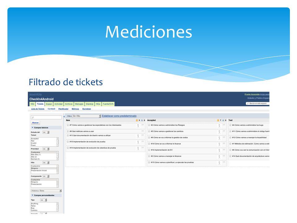 Mediciones Filtrado de tickets