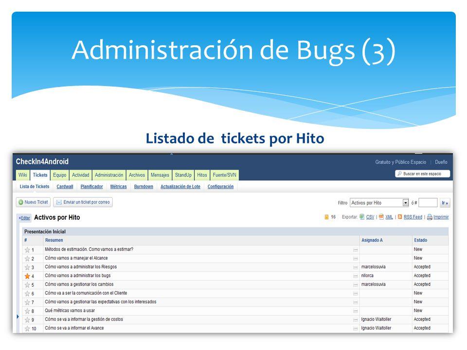 Administración de Bugs (3)