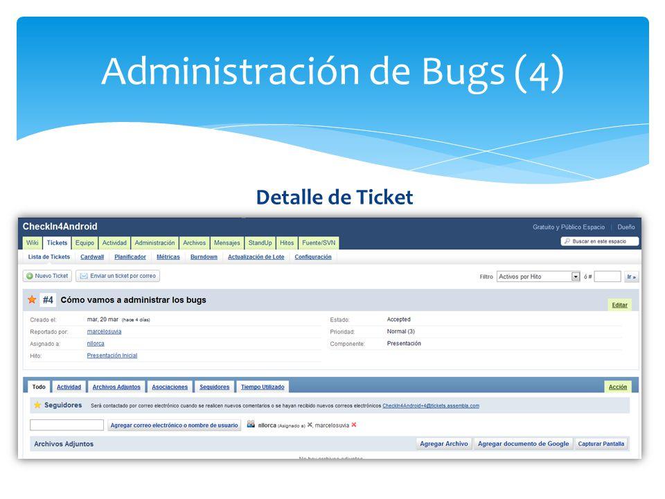 Administración de Bugs (4)