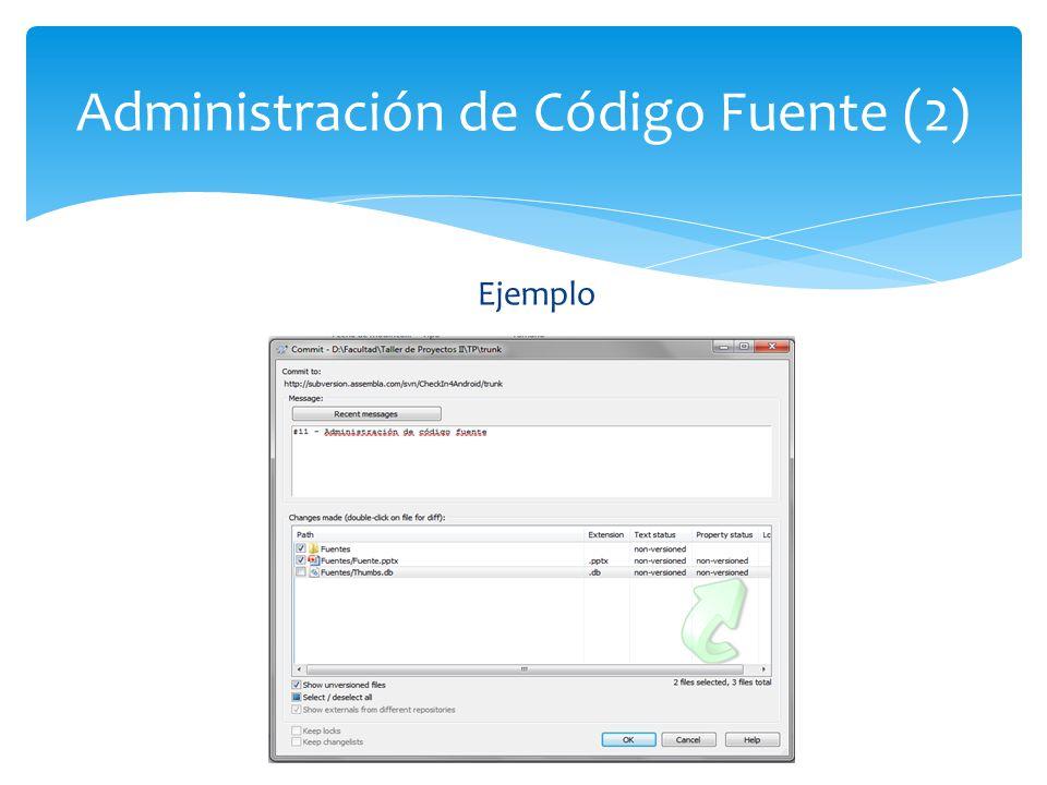 Administración de Código Fuente (2)