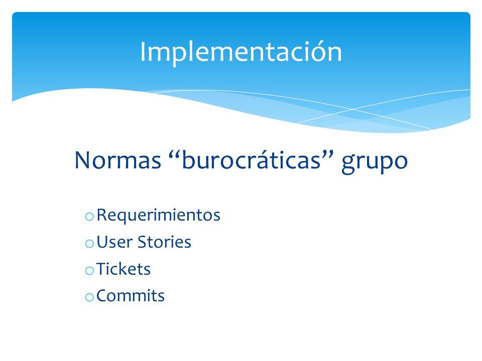 Normas burocráticas grupo