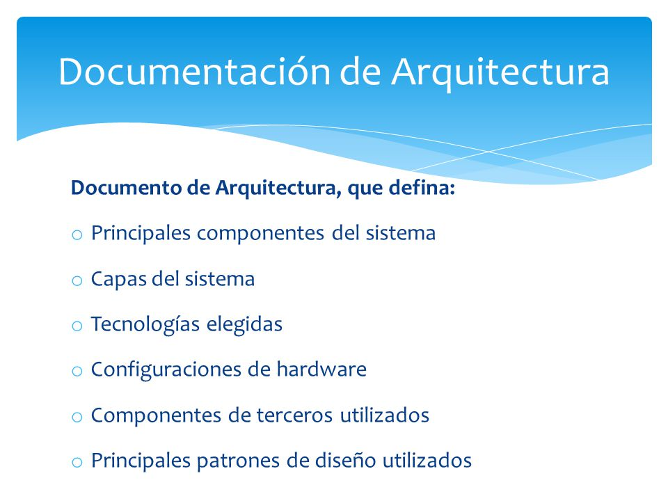Documentación de Arquitectura