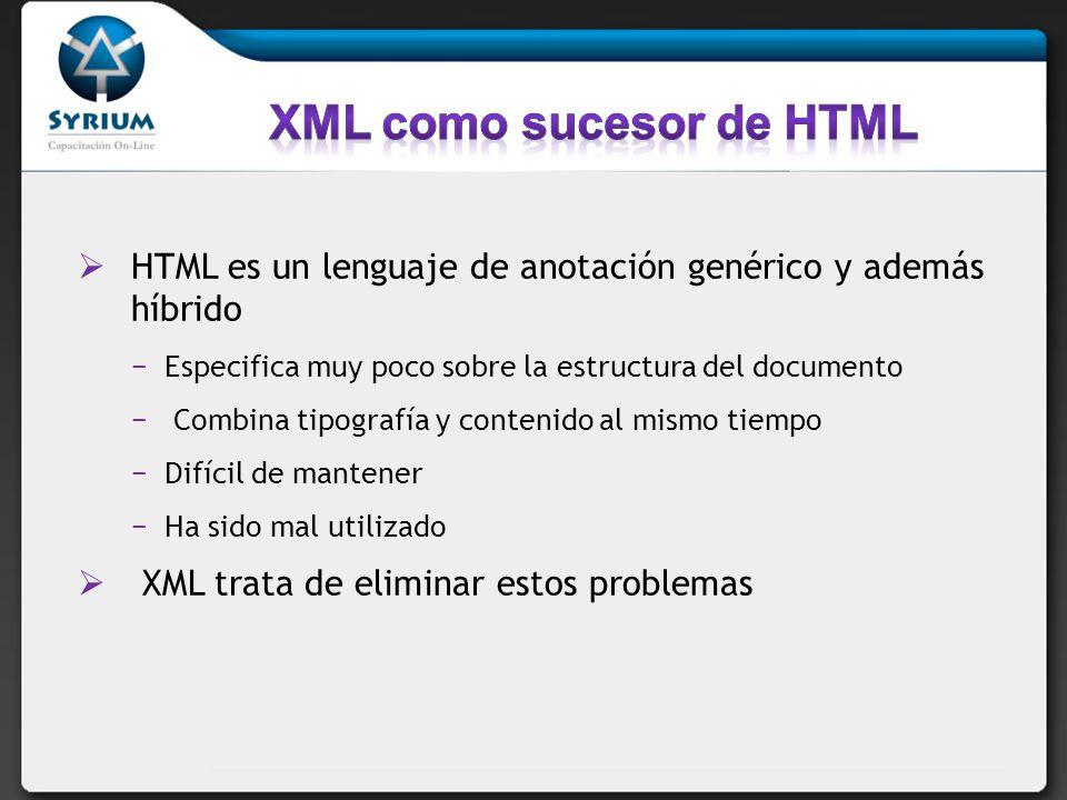 XML como sucesor de HTML