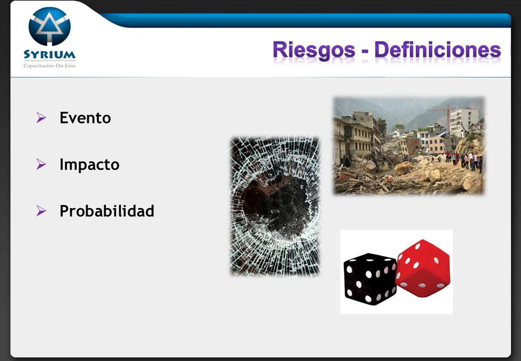 Riesgos - Definiciones