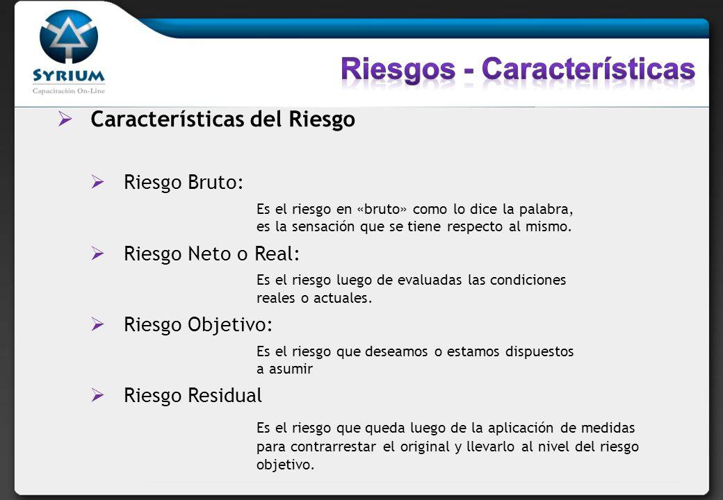 Riesgos - Características