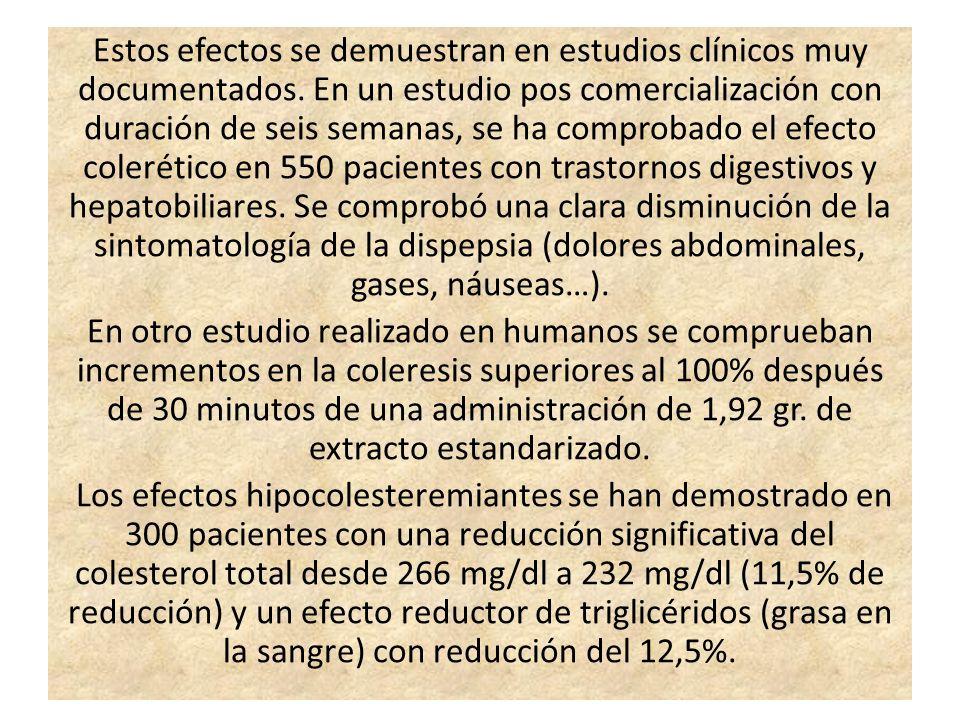 Estos efectos se demuestran en estudios clínicos muy documentados